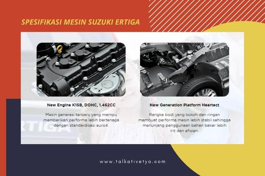 spesifikasi mesin mobil suzuki all new ertiga dengan kapasitas silinder tinggi