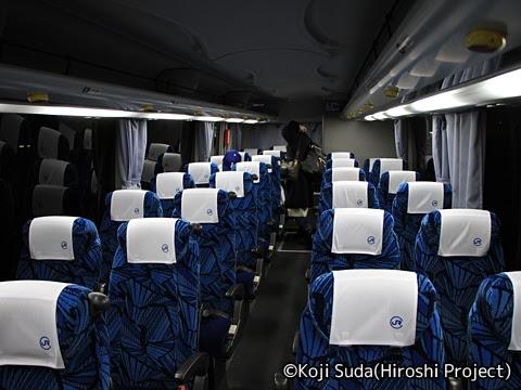 中国JRバス「青春ドリーム大阪京都2号」 2471 車内