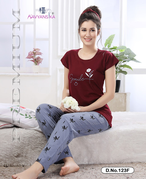 Kavyansika Vol 123 Bombay Modelling Women Night Suits Catalog Lowest Price