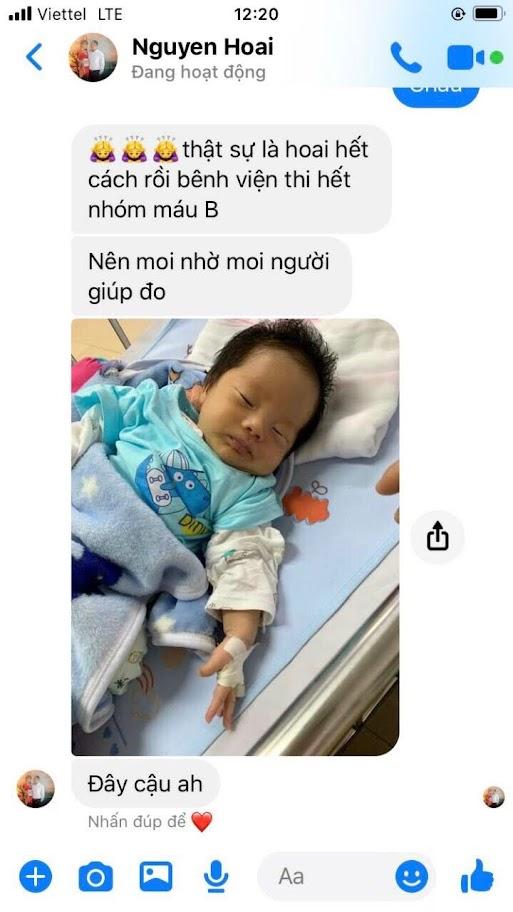những dòng tin nhắn tâm sự của người mẹ cháu bé gửi tới người thân