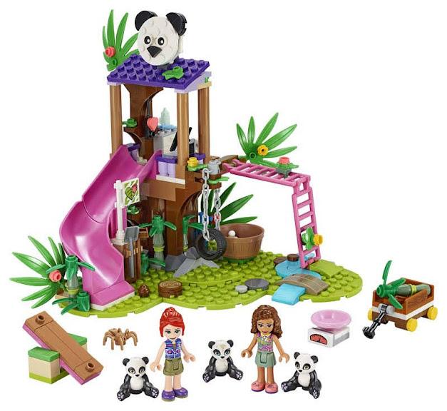 Contenido de Lego® 41422 Casa del Árbol Panda en la Jungla