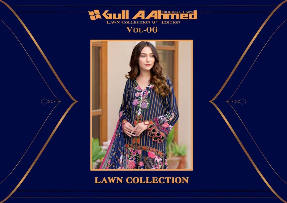 Gul Ahmed Vol 6 Salwar Suits Catalog Lowest Price
