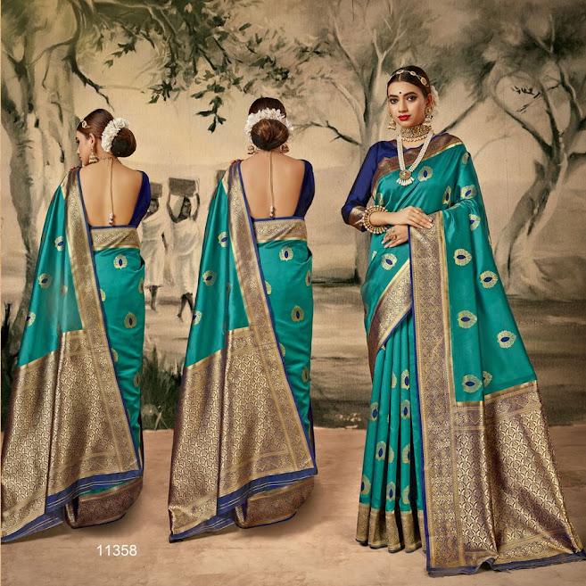 Buy Shakunt Slogan Latest Sarees Catalog Online Wholesaler L