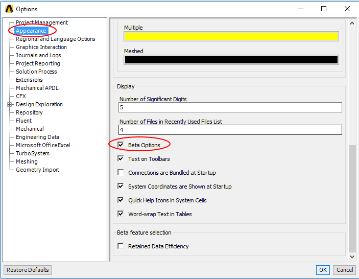 Идентификатор граничного условия также можно узнать прямо в интерфейсе Mechanical