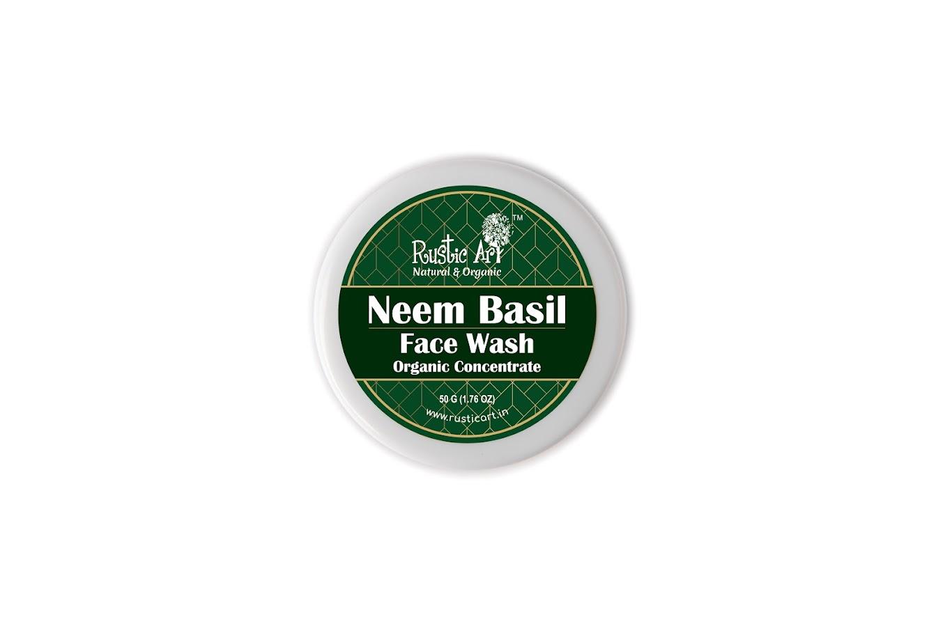 Rustic Art Organic Neem Basil Face Wash Concentrate