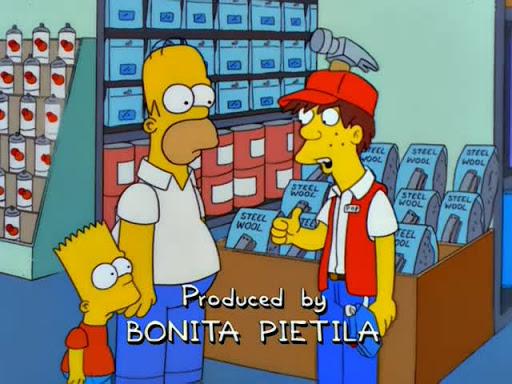 Los Simpsons 10x19 Arte de mamá y papá