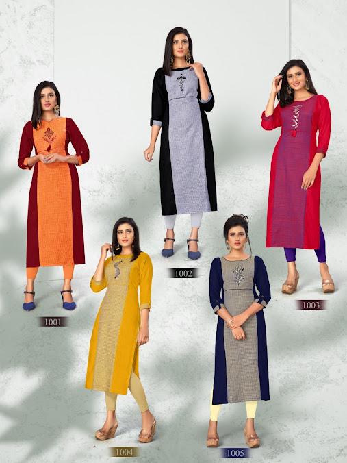 Angel Dehliz Trendz Branded Straight Cut Kurtis Manufacturer Wholesaler