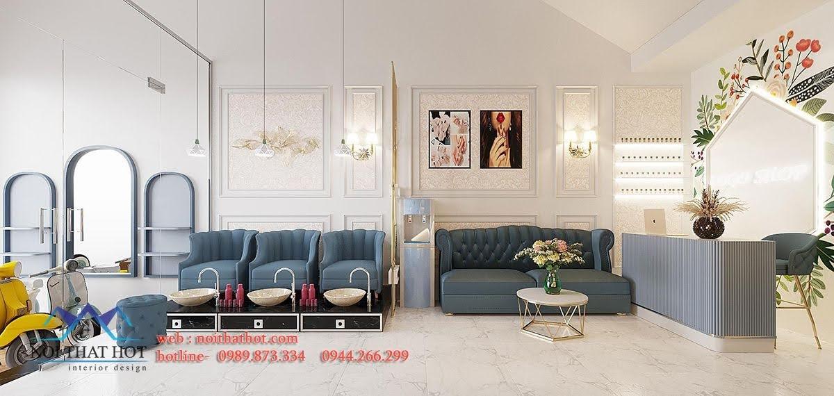 Thiết kế nội thất cửa hàng nail Hà Nội