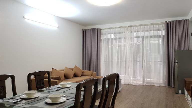 Cheap brand – new two bedroom apartment in Yen Phu village, Tay Ho district for rent