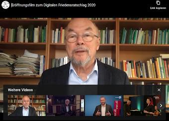 Bild aus Video vom Eröffnungsfilm zum Digitalen Friedensratschlag 2020.