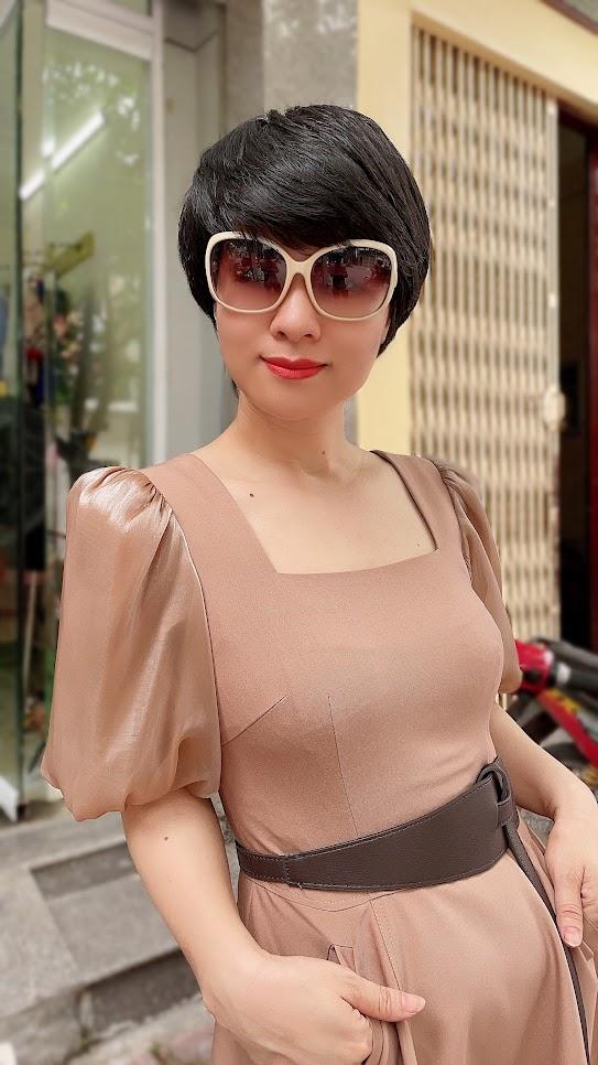 váy xòe midi công sở dạo phố thời trang thủy quảng ninh