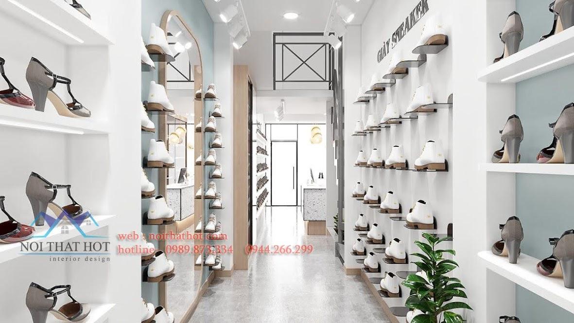 thiết kế shop giày dép diện tích nhỏ