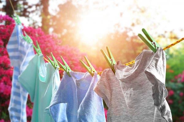 phơi quần áo ở những nơi thoáng mát