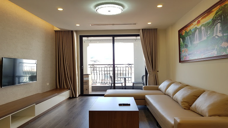 Luxury modern 2 – bedroom apartment with balcony in Tay Ho street, Tay Ho district for rent