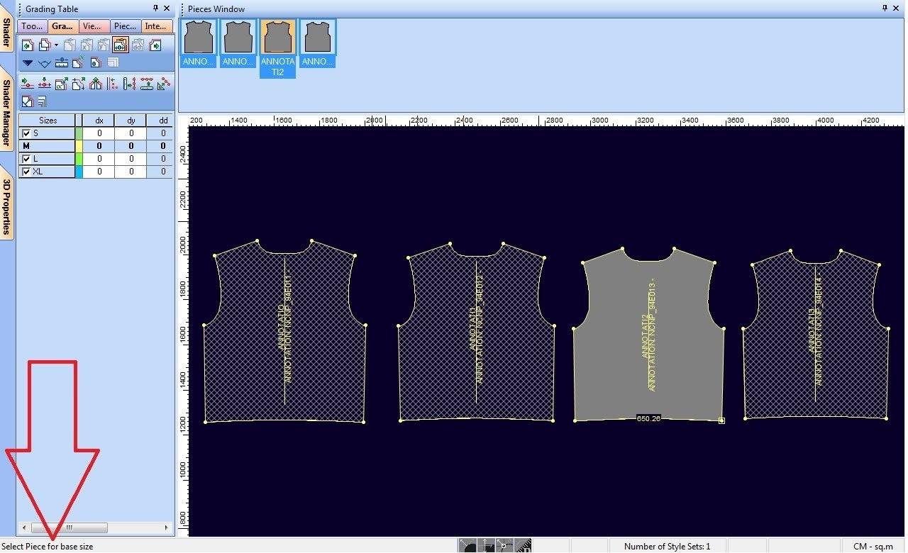 Tạo Rập Lồng Size Trong Optitex PDS Từ Rập Size Đơn 5