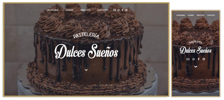 Página web Pastelería Dulces Sueños