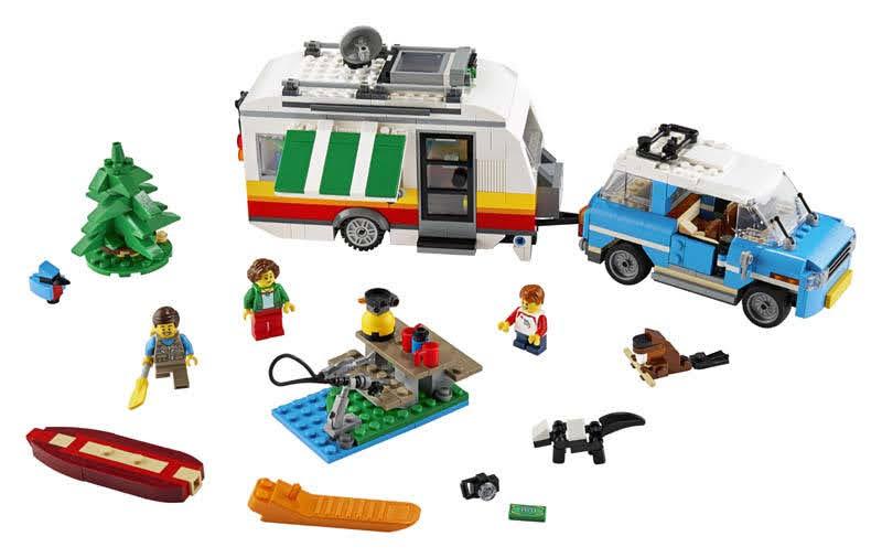 Contenido de Lego® 31108 Vacaciones Familiares en Caravana