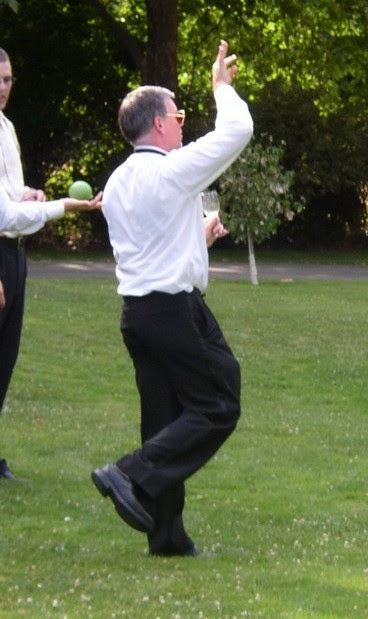 Image of Dave playing bocce