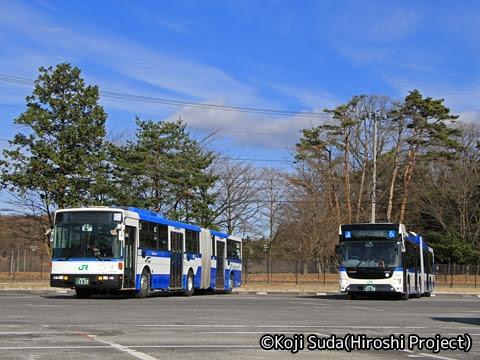 JRバス関東 白河支店 新旧連節バス撮影ツアー_12 新旧連節バス