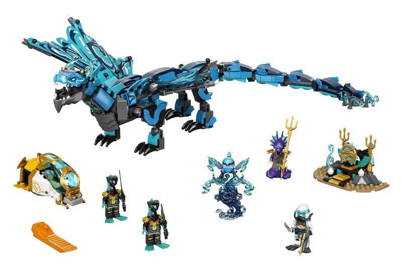 Contenido de LEGO® 71754 Dragón de Agua
