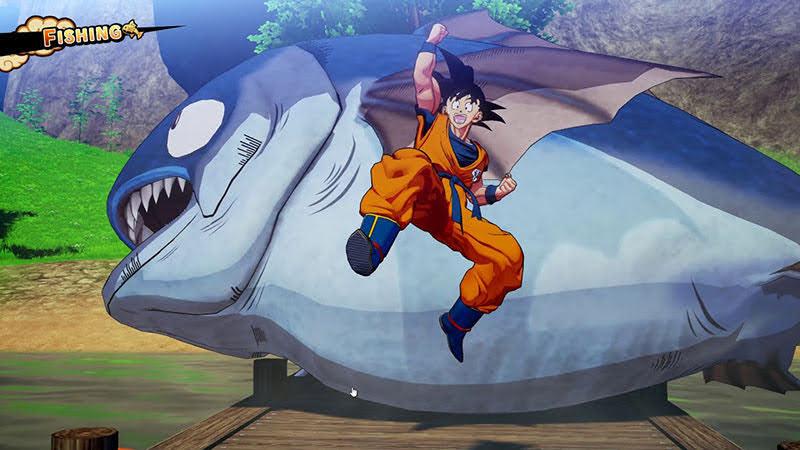 Cảnh câu cá thành công của Son Goku