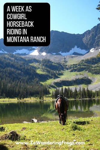 A Week as a Cowgirl Horseback Riding in Montana Ranch // Lake View