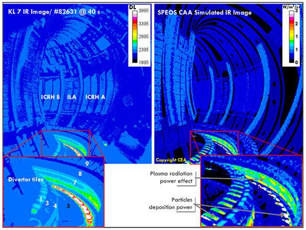 Результаты расчёта в программном продукте Ansys SPEOS (справа) совпадают с данными датчиков температуры (слева)