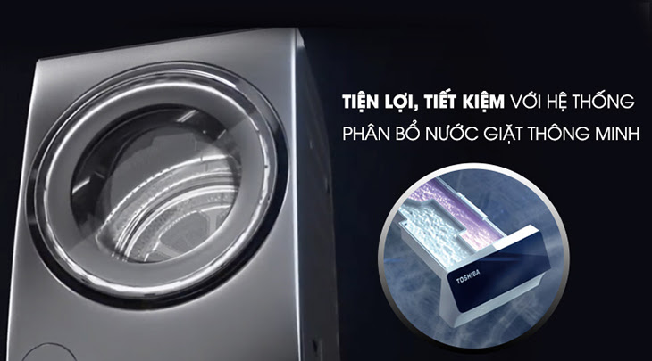 Công nghệ Tự động phân bổ nuớc giặt thông minh SenseDose có trên máy giặt Toshiba