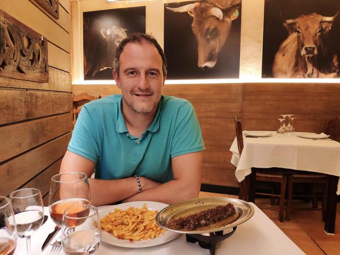 El plato de Carlos.