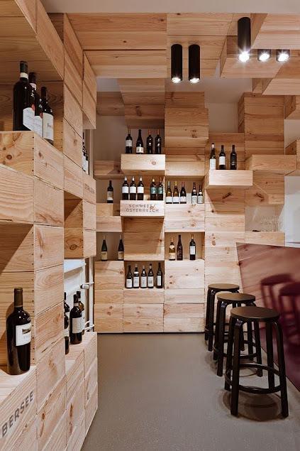 nội thất cửa hàng rượu