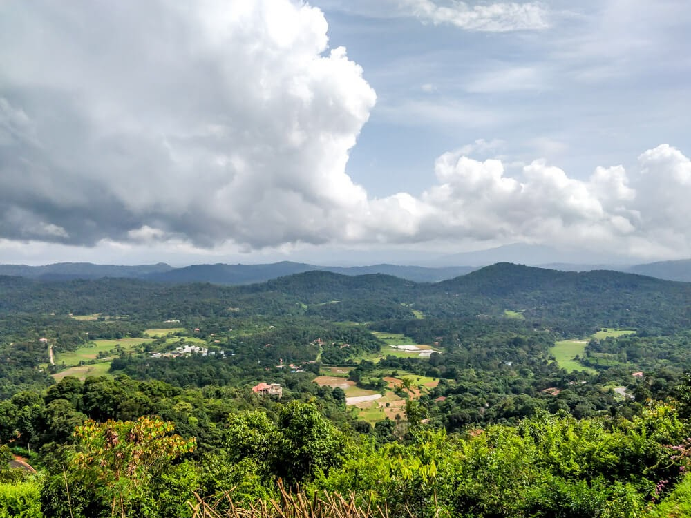 view from madikeri coorg karnataka south india