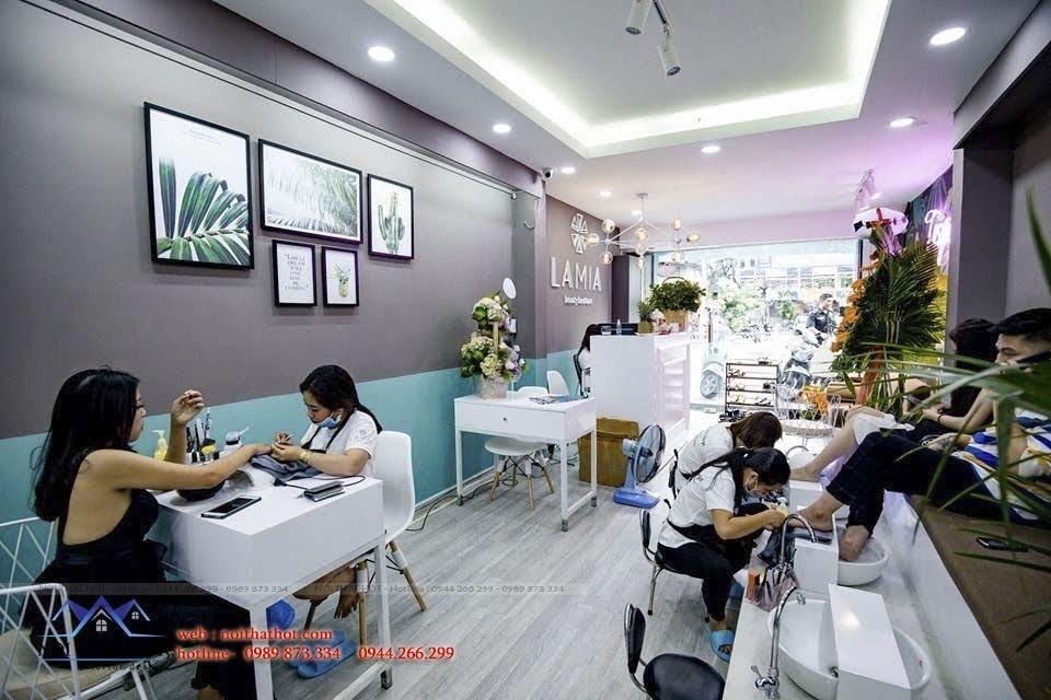 thiết kế cửa hàng nail đẹp