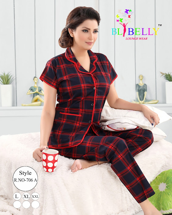 Fashion 186/1 Belly Ladies Night Suits Manufacturer Wholesaler