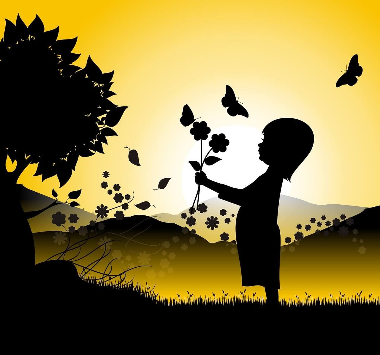 a child with butterflies at sunset used in enouraging life quotes article.jpg