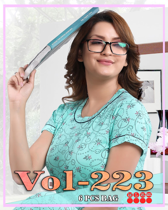 Vol 223 Kavyansika Ladies Night Suits Manufacturer Wholesaler