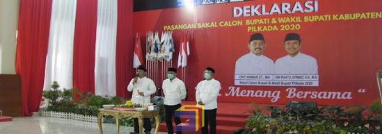 Deklarasi Bakal Cabup dan Wakil Bupati Ngawi