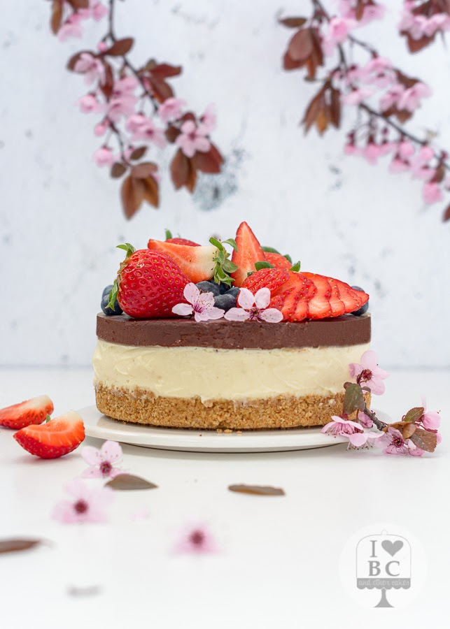 Cheesecake de chocolate blanco y galleta María