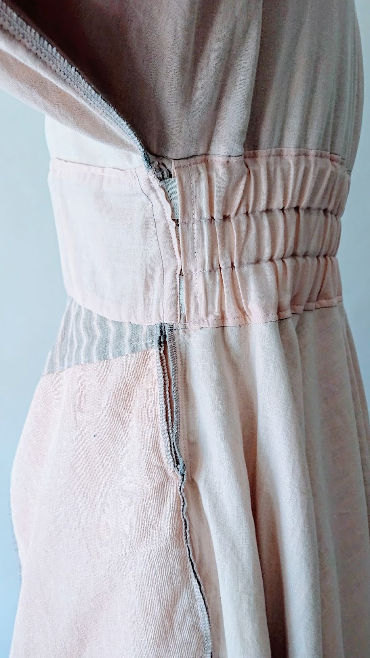 Cleaning up waist lining transitions | Handkerchief Dress - FAFAFOOM.COM