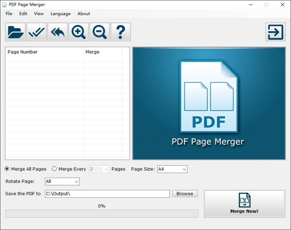 Screenshot 1 of PDF Page Merger