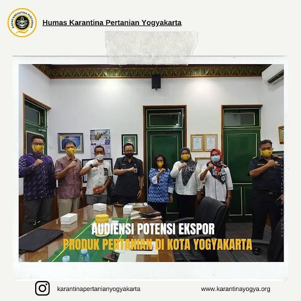 Audiensi Potensi Ekspor Produk Pertanian Kota Yogyakarta