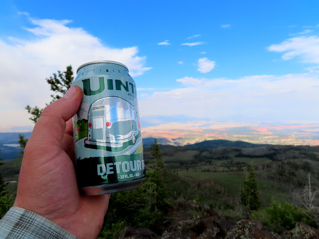 Hiking with a beer