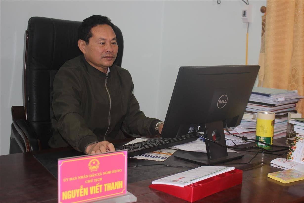 Đồng chí Nguyễn Viết Thanh, Chủ tịch UBND xã Nghi Hưng
