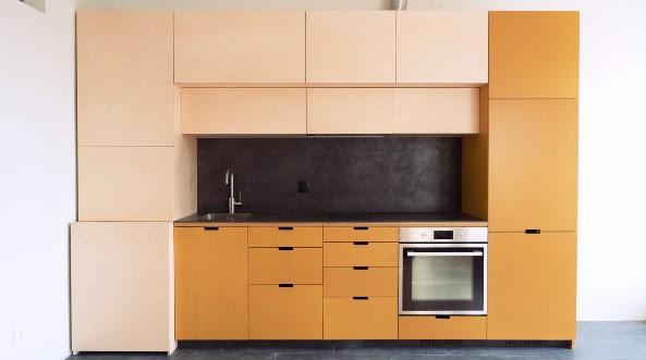 фотография кухни из фанеры