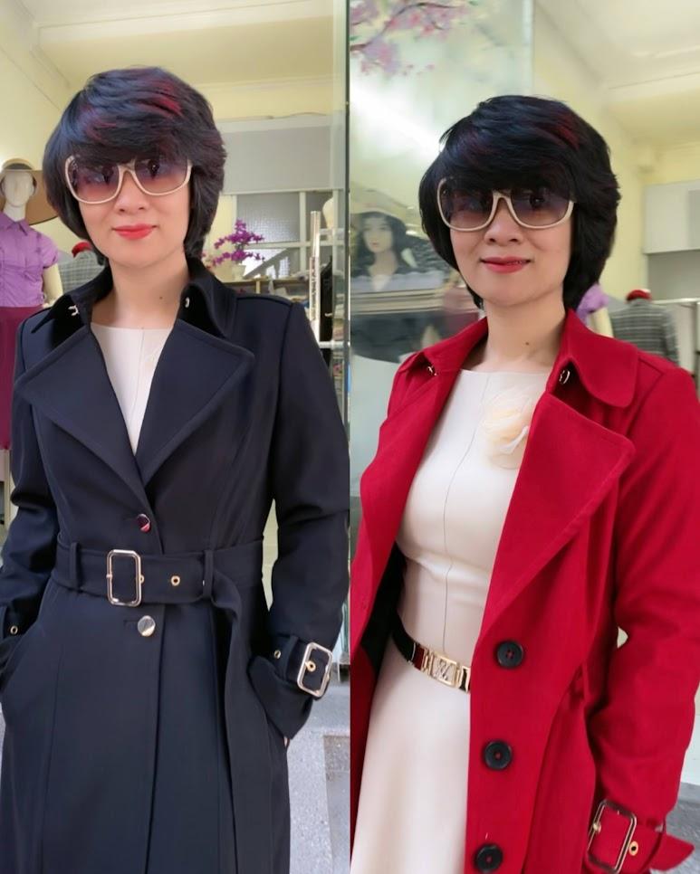 Áo khoác măng tô nữ dáng dài mùa thu đông V747 thời trang thủy quảng ninh