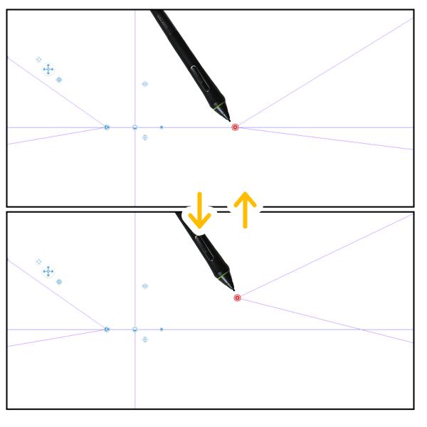クリスタ:パース定規(消失点を追加)