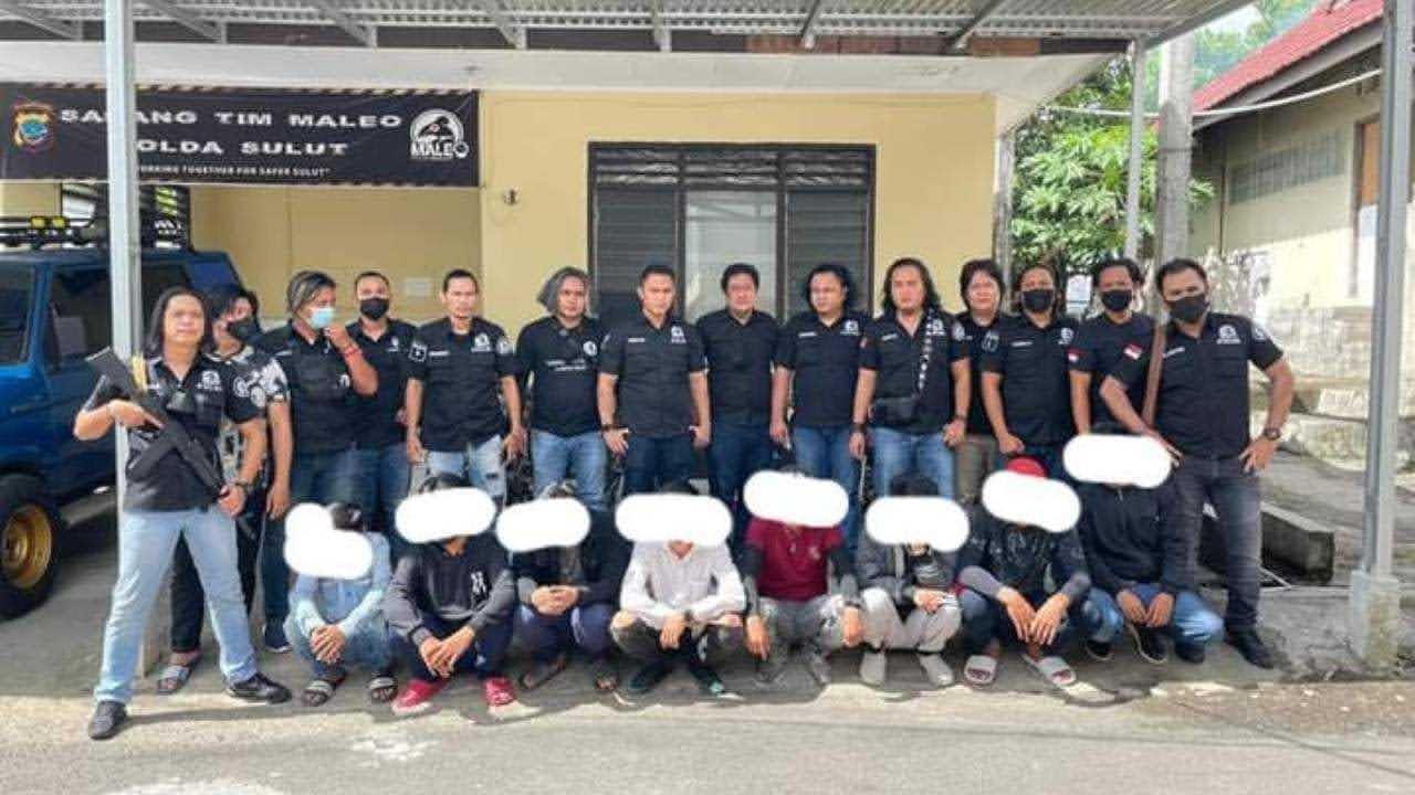 Maleo Polda Sulut Ringkus Debt Collector