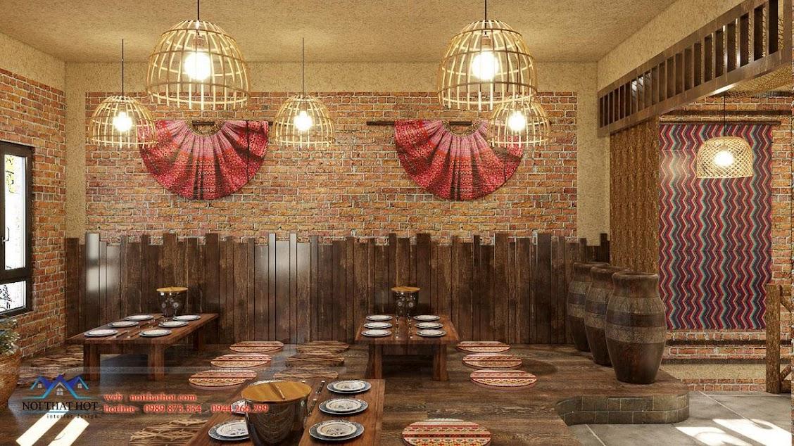 trang trí không gian cửa hàng ăn