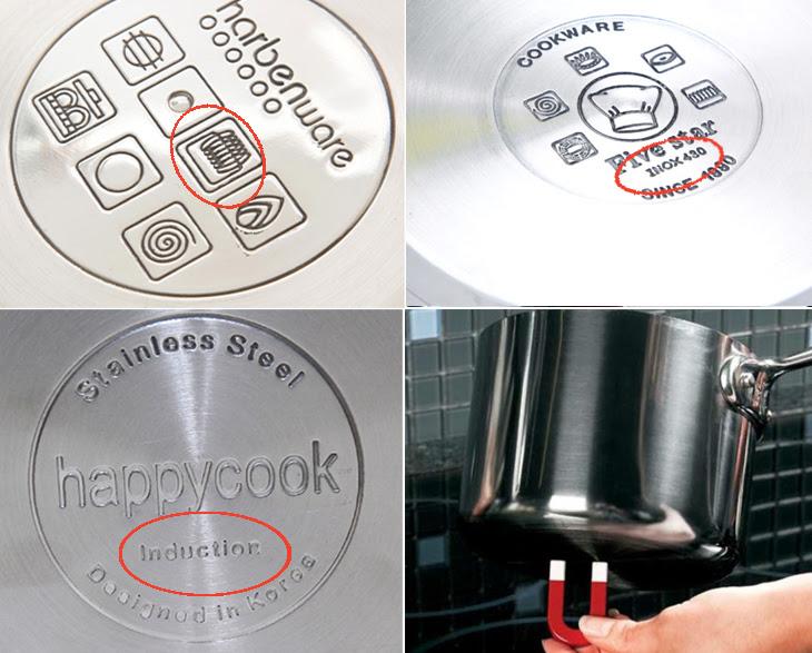dấu hiệu nhân biết loại nồi phù hợp với bếp từ Panasonic