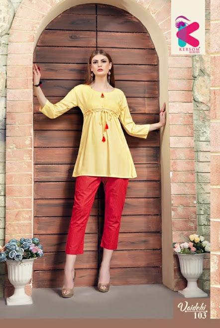 Vaidehi Kersom Designer Top Pant Set Manufacturer Wholesaler