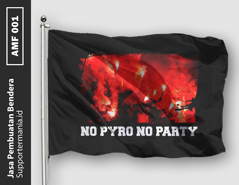Desain Bendera atau Mini Flag Ultras No Pyro No Party